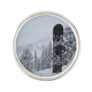 Snowboard In Snow Lapel Pin