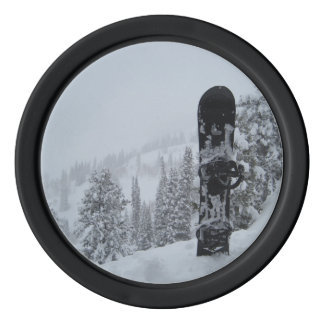 Snowboard In Snow Poker Chips Set