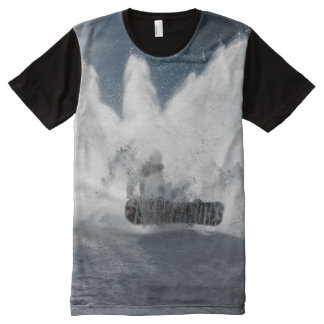 Snowboard in the Snow Winter Sports All-Over-Print T-Shirt
