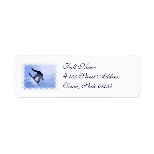 Snowboard Mailing Labels