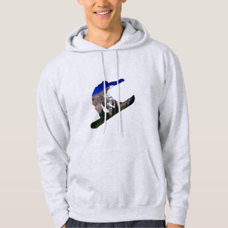 Snowboard Men's Basic Hooded Sweatshirt