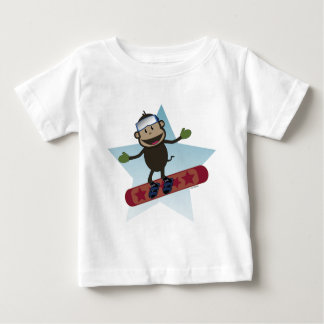 Snowboard Monkey infant tee