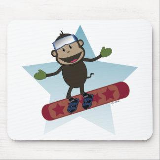 Snowboard Monkey mousepad