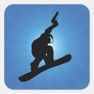 Snowboard Outlaw Square Sticker