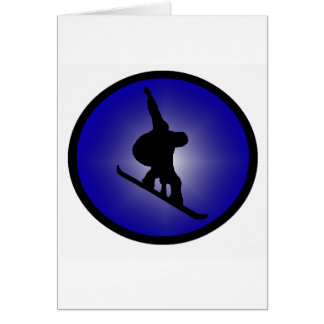 Snowboard Ready Zoned Greeting Card