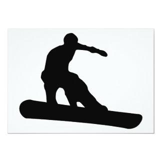 snowboard silhouette card