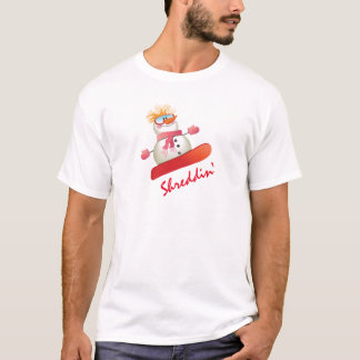 Snowboard Snowman Men's Basic T-Shirt