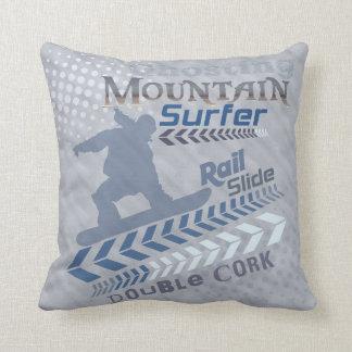 Snowboard Splash Throw Pillow