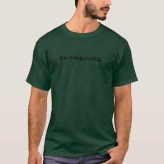 Snowboard. T-Shirt