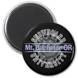 Snowboard University - Mt. Bachelor OR 2 Inch Round Magnet