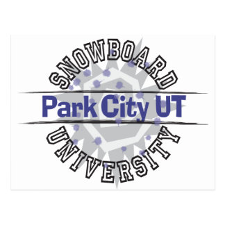 Snowboard University - Park City UT Postcard