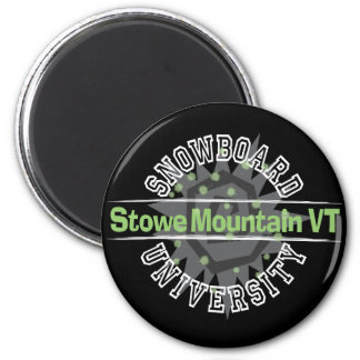 Snowboard University - Stowe Mountain VT 2 Inch Round Magnet