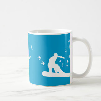 snowBOARD with birds Coffee Mug