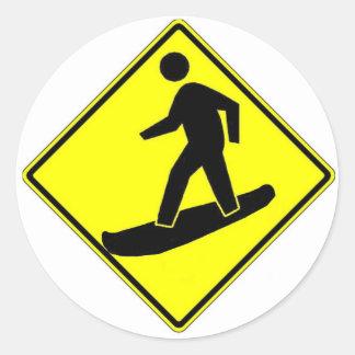 Snowboard Xing Classic Round Sticker
