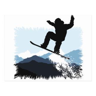 Snowboarder Action Jump Postcard