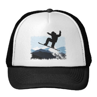 Snowboarder Action Jump Trucker Hat