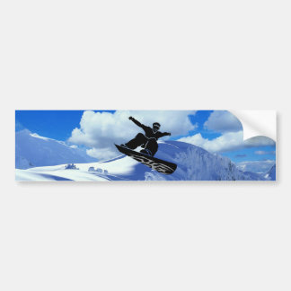 snowboarder bumper sticker