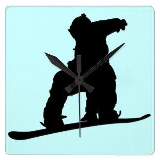 Snowboarder Clock