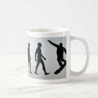 snowboarder evolution coffee mug