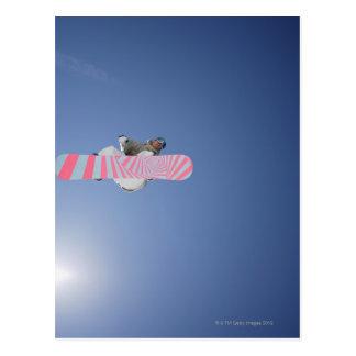 Snowboarder Flying Through the Air Postcard