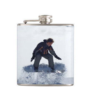 Snowboarder Hip Flask