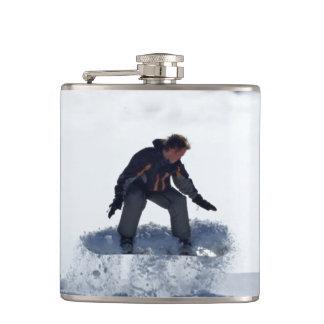 Snowboarder Hip Flask