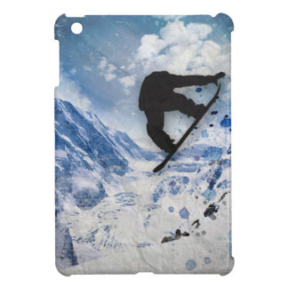 Snowboarder In Flight Cover For The iPad Mini