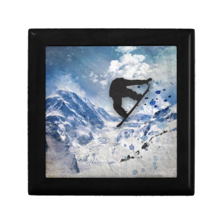 Snowboarder In Flight Gift Boxes