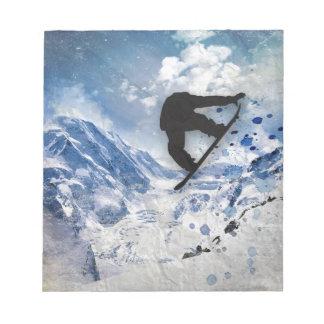 Snowboarder In Flight Notepad
