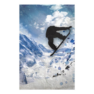 Snowboarder In Flight Stationery