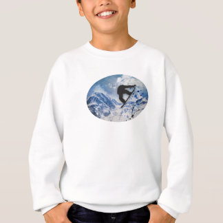 Snowboarder In Flight Sweatshirt