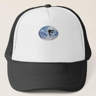 Snowboarder In Flight Trucker Hat