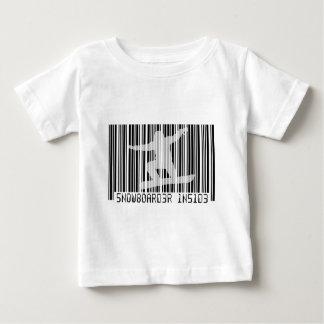 SNOWBOARDER INSIDE Barcode Baby T-Shirt