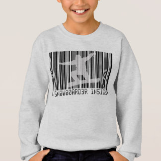 SNOWBOARDER INSIDE Barcode Sweatshirt