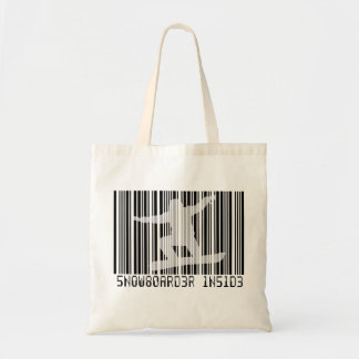SNOWBOARDER INSIDE Barcode Tote Bag