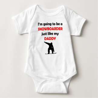 Snowboarder Like My Daddy Baby Bodysuit