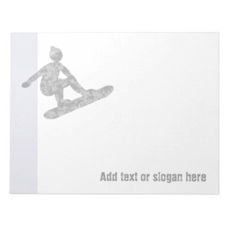Snowboarder Logo and Slogan Notepads