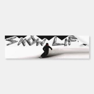 Snowboarder loving the Snow Life Bumper Sticker