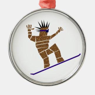 Snowboarder Metal Ornament
