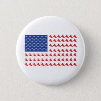 Snowboarder-Patriotic-Flag 2 Inch Round Button