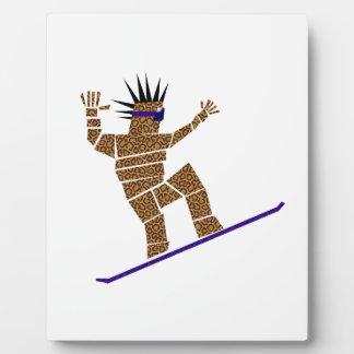 Snowboarder Plaque