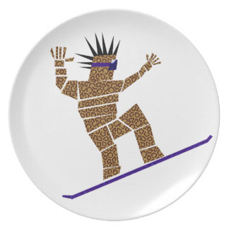 Snowboarder Plate