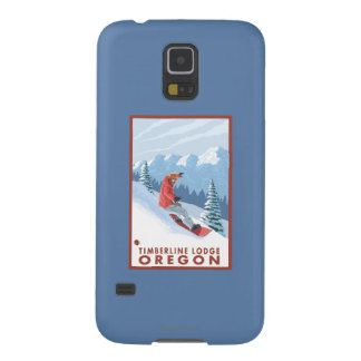 Snowboarder Scene - Timberline Lodge, Oregon Cases For Galaxy S5