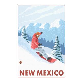 Snowboarder SceneNew Mexico Canvas Print
