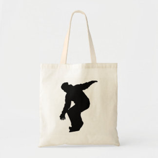 Snowboarder Silhouette Tote Bag