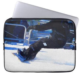 Snowboarder Skidding Winter Sports Gift Laptop Sleeve