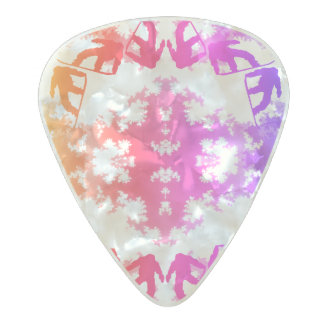 Snowboarder Sky Tile Snowboarding Sport Pearl Celluloid Guitar Pick