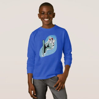 Snowboarder Snowboarding Kid's Long-Sleeve Shirt