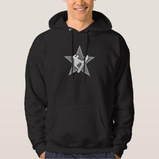 Snowboarder star v2 dark reflected hoodie