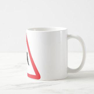snowboarder warning sign coffee mug